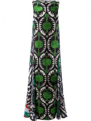 Вечернее платье с узором Afroditi Hera. Цвет: чёрный