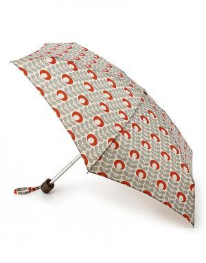 Зонт механический Цветок красный  by Fulton Orla Kiely. Цвет: серый