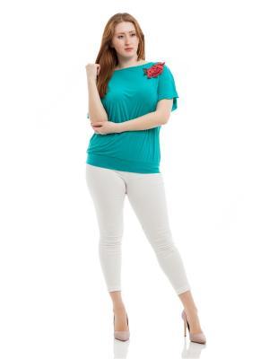 Блузка Lady Di. Цвет: морская волна