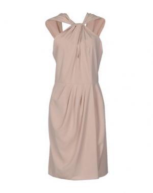 Платье до колена MALAICA. Цвет: бежевый