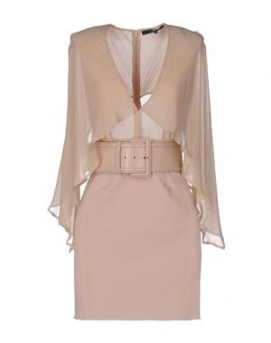 Короткое платье ELISABETTA FRANCHI 24 ORE. Цвет: бежевый