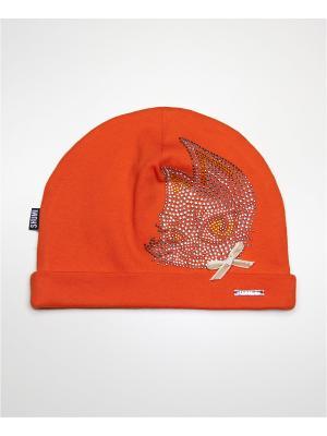 Шапка SHUMI DESIGN. Цвет: оранжевый