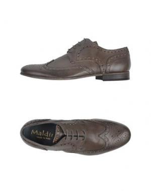 Обувь на шнурках MALDINI. Цвет: серый