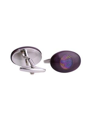 Запонки RUXARA. Цвет: фиолетовый
