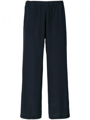 Широкие укороченные брюки Aspesi. Цвет: синий