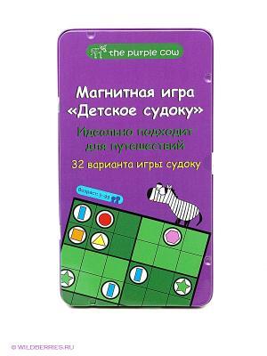 Магнитная настольная игра Детское судоку. THE PURPLE COW. Цвет: зеленый, фиолетовый