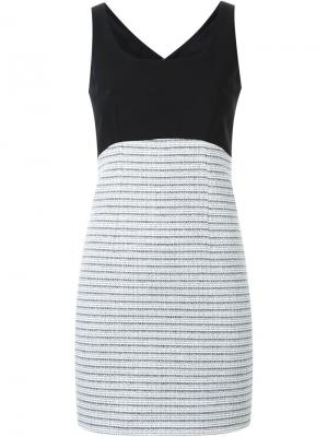 Приталенное платье без рукавов Loveless. Цвет: белый
