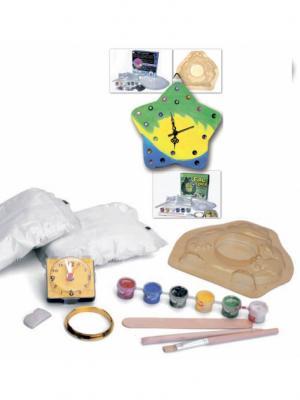 Набор для творчества арт-часы ЗВЕЗДА BRADEX. Цвет: зеленый, желтый, красный, синий