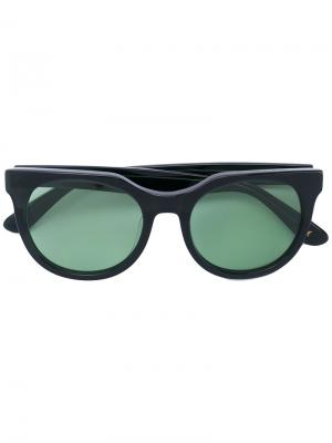 Солнцезащитные очки в квадратной оправе Han Kjøbenhavn. Цвет: чёрный