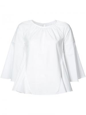 Расклешенная блузка с укороченными рукавами Co. Цвет: белый