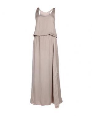 Длинное платье GIORGIA & JOHNS. Цвет: бежевый