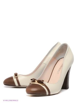Туфли Grand Gudini. Цвет: белый, коричневый