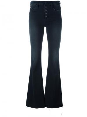 Расклешенные джинсы с высокой талией Hudson. Цвет: чёрный