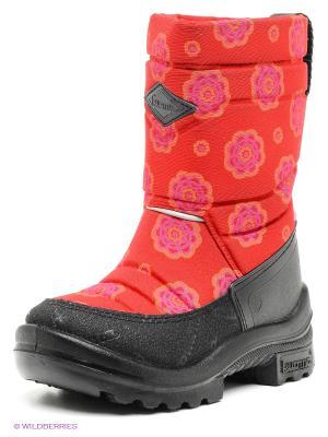 Полусапожки KUOMA. Цвет: красный, розовый, черный