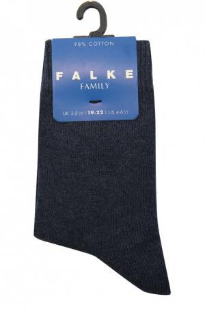 Носки из хлопка Falke. Цвет: темно-синий