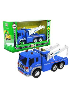 Машина грузовик Эвакуатор Drift. Цвет: синий, белый, серый
