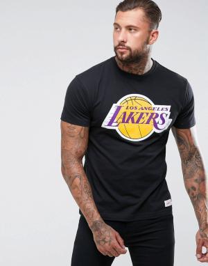 Mitchell & Ness Футболка NBA L.A Lakers. Цвет: черный