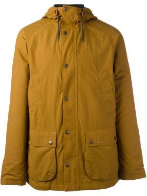 Куртка с капюшоном Barbour. Цвет: жёлтый и оранжевый