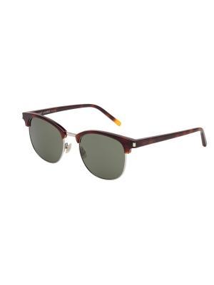 Солнцезащитные очки Saint Laurent. Цвет: коричневый