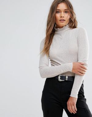 Lunik Полупрозрачный свитер. Цвет: коричневый