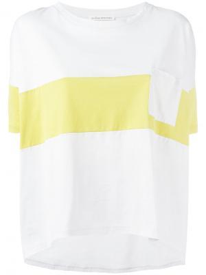 Colour block T-shirt Stefano Mortari. Цвет: серый