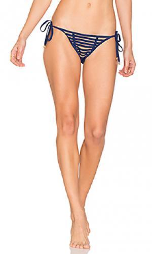 Низ бикини с завязками по бокам hard summer Beach Bunny. Цвет: синий