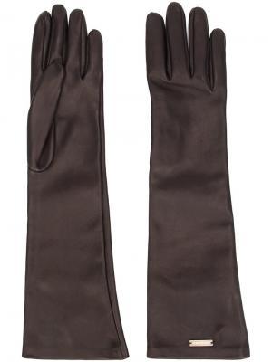 Длинные перчатки Dsquared2. Цвет: коричневый