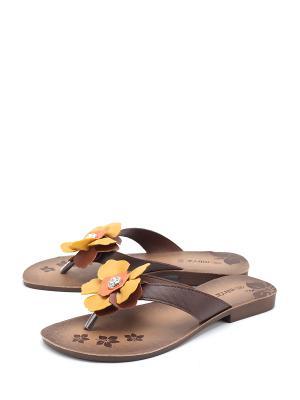 Сабо MUYA. Цвет: коричневый