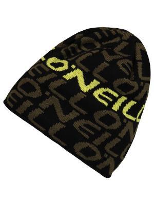 Шапка O'Neill. Цвет: черный, желтый