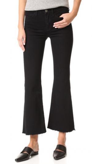 Расклешенные потрепанные джинсы Lou M.i.h Jeans. Цвет: голубой