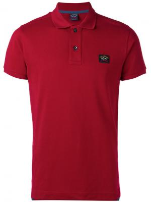 Logo patch polo shirt Paul & Shark. Цвет: красный
