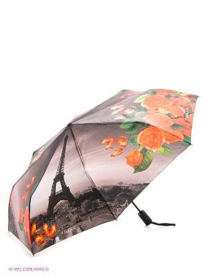 Зонт Flioraj. Цвет: серый, оранжевый, белый