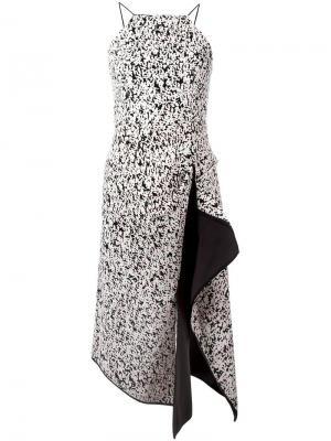 Платье миди с драпировкой C/Meo. Цвет: розовый и фиолетовый