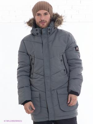 Куртка Earth Gear. Цвет: серый
