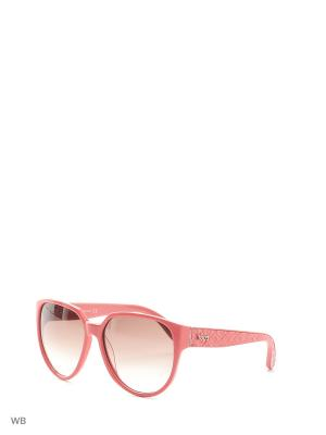 Солнцезащитные очки TO 0087 42F Tod's. Цвет: коралловый