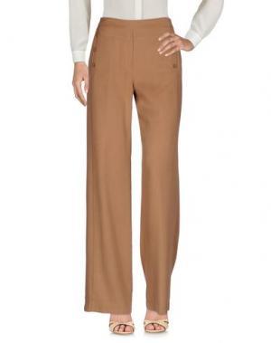 Повседневные брюки BIANCOGHIACCIO. Цвет: верблюжий