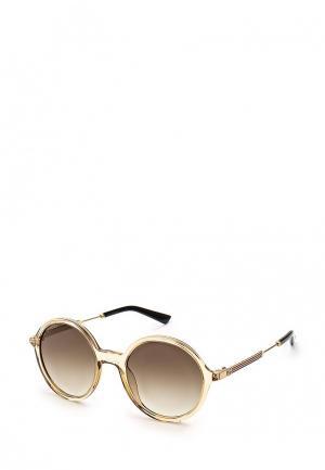 Очки солнцезащитные Gucci. Цвет: бежевый