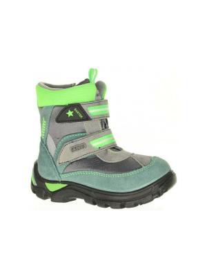 Ботинки Bartek. Цвет: серый, зеленый
