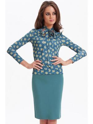 Блуза Анна Чапман. Цвет: бирюзовый