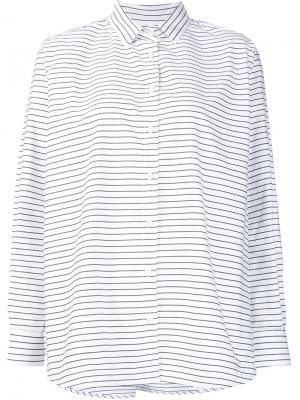 Striped button down shirt Toteme. Цвет: белый
