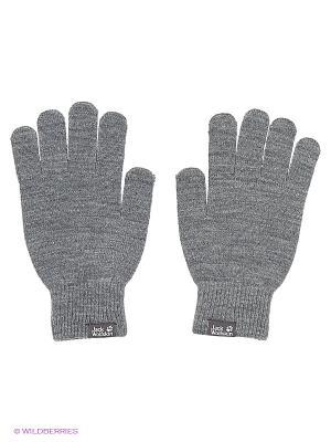Перчатки RIB GLOVE Jack Wolfskin. Цвет: серый