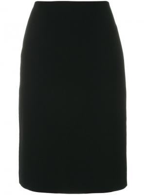 Прямая юбка миди Paule Ka. Цвет: чёрный