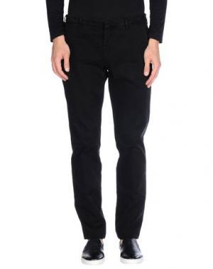 Повседневные брюки MANUEL RITZ WHITE. Цвет: черный