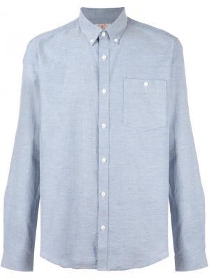 Рубашка Carew Barbour. Цвет: синий