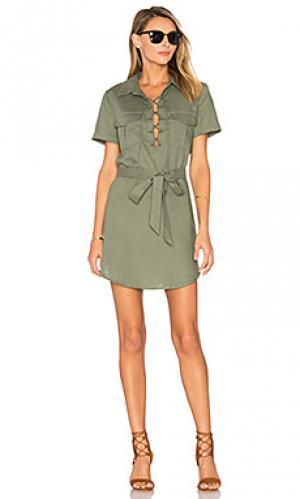 Платье safari LAcademie L'Academie. Цвет: оливковый