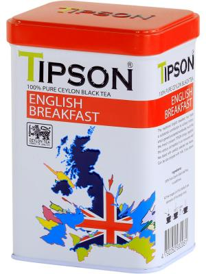 Чай Tipson ENGLISH BREAKFAST 85 гр, ж/б. Цвет: черный