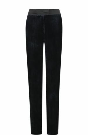 Бархатные брюки прямого кроя с карманами Tara Jarmon. Цвет: темно-синий