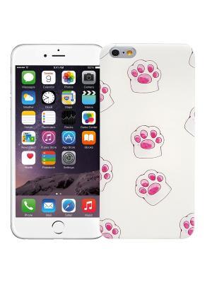 Чехол для iPhone 6+ Лапы (белый) Kawaii Factory. Цвет: лиловый, белый