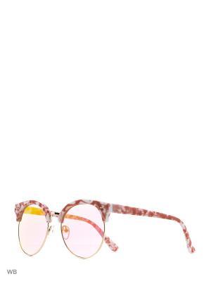 Солнцезащитные очки Vita pelle. Цвет: розовый, красный