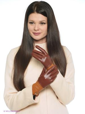 Перчатки Labbra. Цвет: коричневый, светло-коричневый